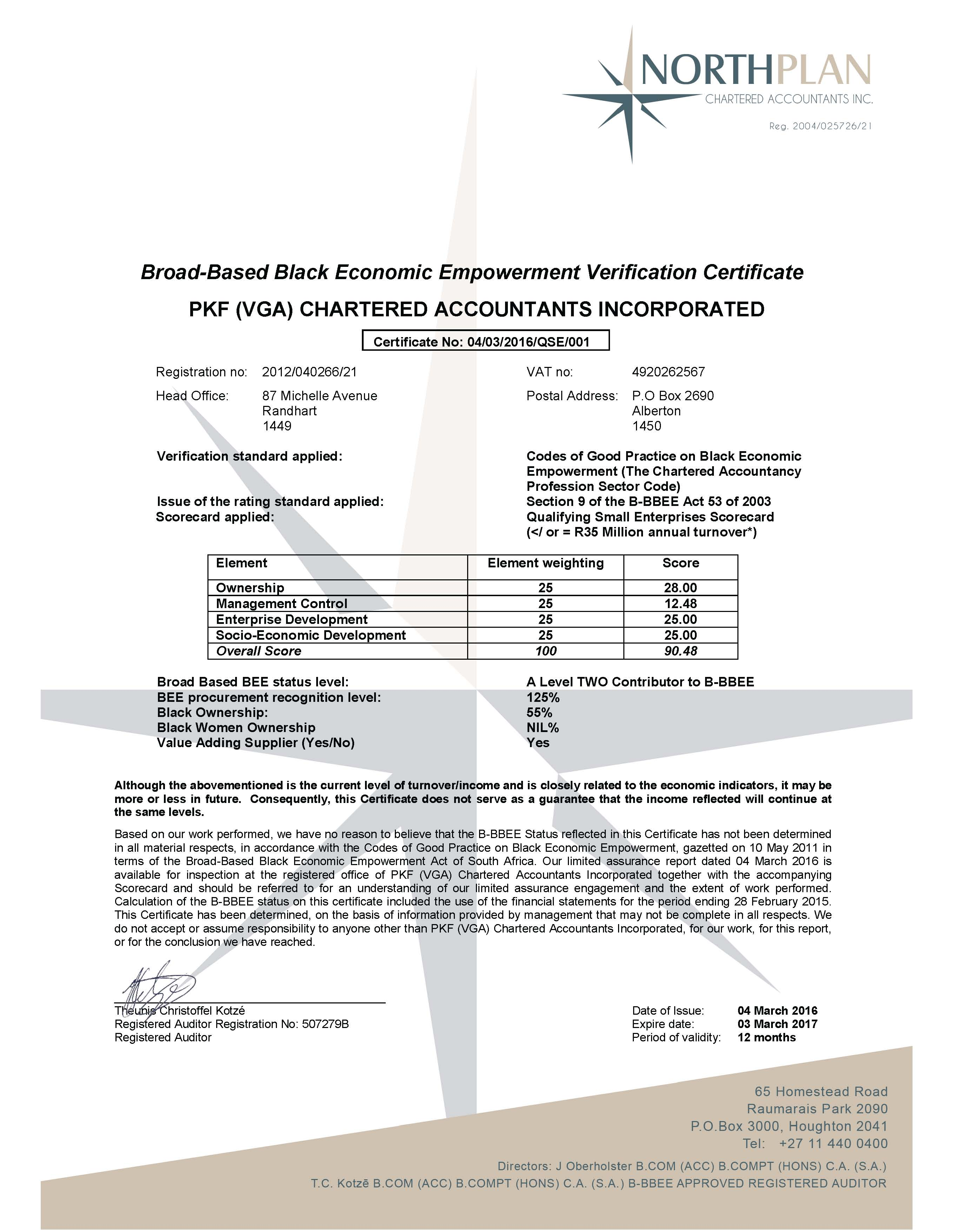 VGA Chartered ACC Inc - BEE Certificate 2016 SIGNED_Page_1